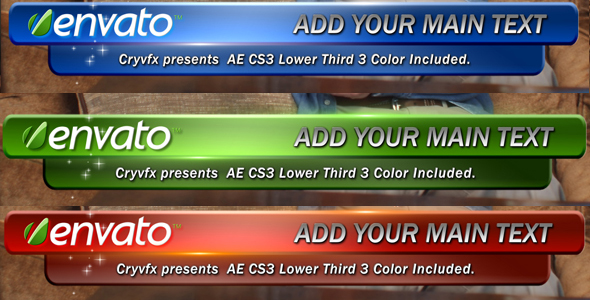 After Effects Project - VideoHive Master Color Lower Third 114948