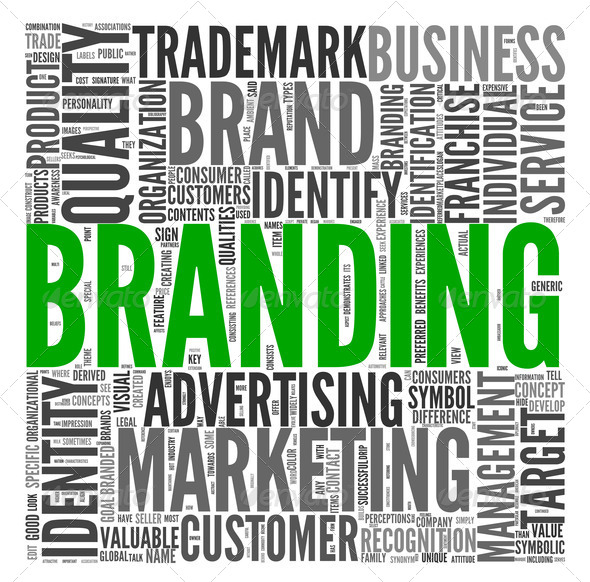Branding concept in tag cloud - Stock Photo - Images