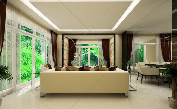 Modern house interior - Stock Photo - Images