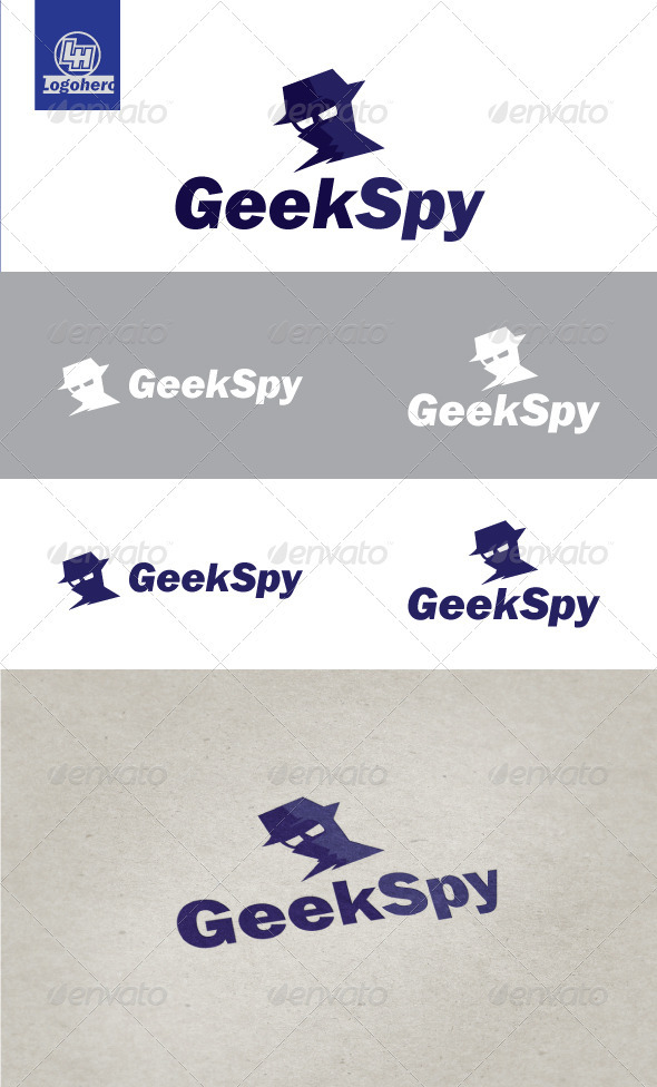 Geek Spy Logo Template - Humans Logo Templates