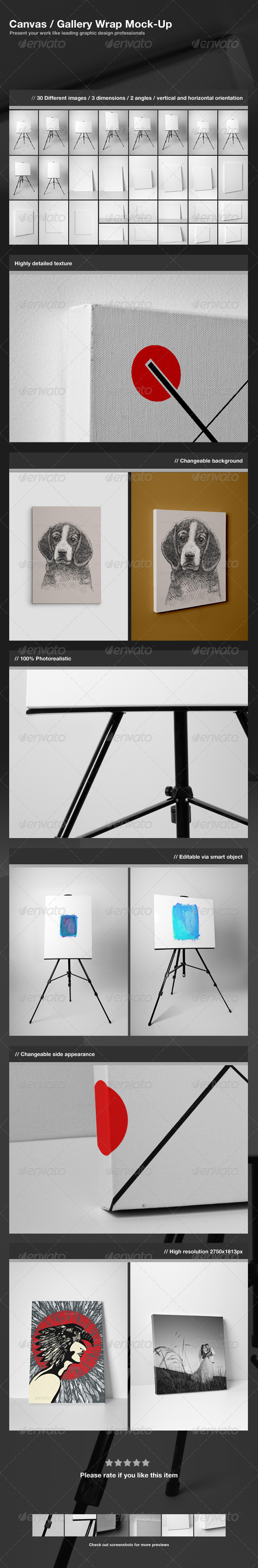 Canvas Gallery Wrap Mock-Up  - Miscellaneous Displays