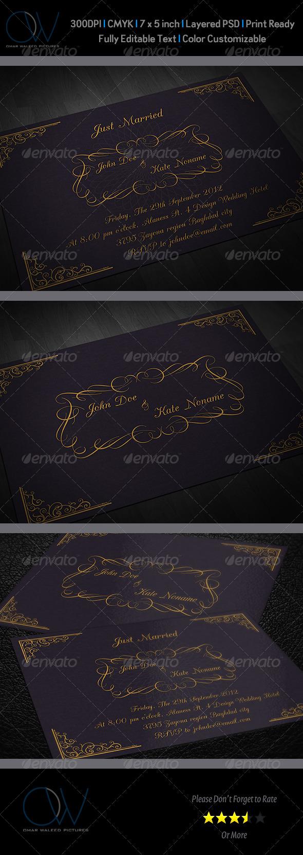 GraphicRiver Wedding Invitation Card Vol.3 3264670