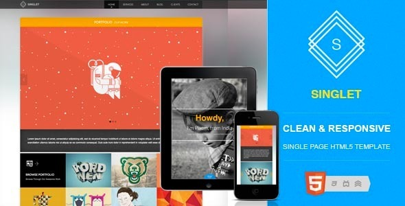 ThemeForest Singlet One Page Portfolio Template 3264821