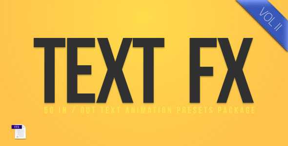 After Effects Project - VideoHive Text Fx Vol.2 3264864