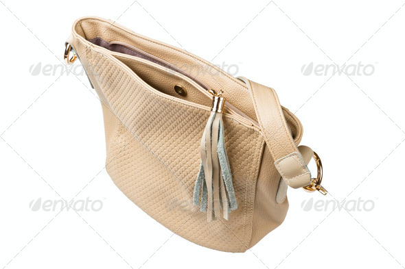 women beige handbag - Stock Photo - Images