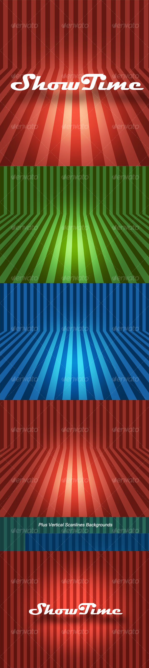 GraphicRiver Bent Scanlines Backgrounds 115031