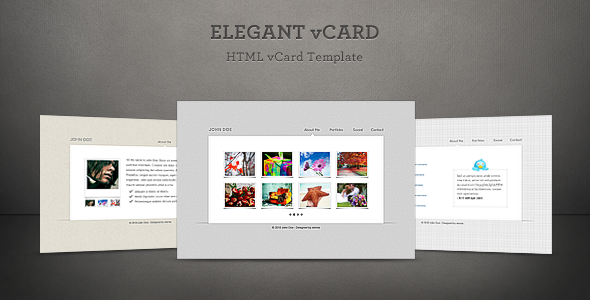 ThemeForest Elegant Vcard 92564