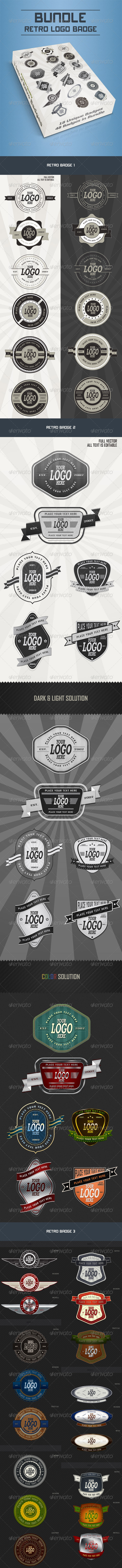 GraphicRiver Bundle Retro Badge 3265670