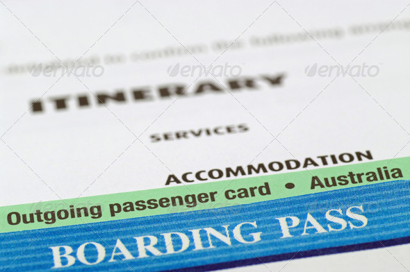 australian holiday documents - Stock Photo - Images