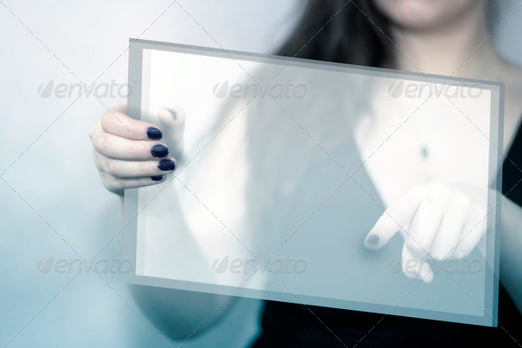 Transparent Tablet - Stock Photo - Images