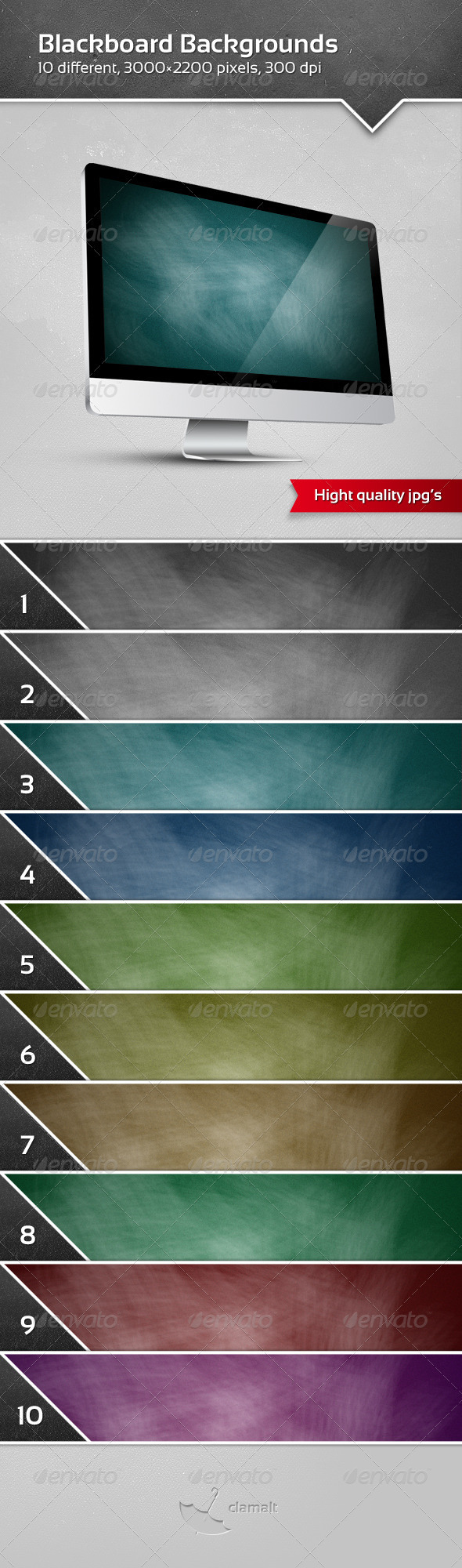 GraphicRiver Blackboard Backgrounds 3265746