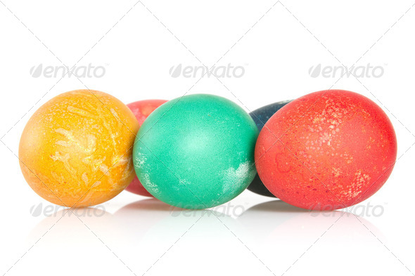 Painted Eggs - Stock Photo - Images