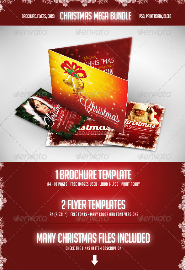 Christmas - Mega Bundle - Flyers Print Templates