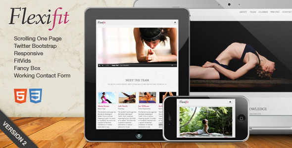 FlexiFit - One Page Scrolling Html5 Template  - Health & Beauty Retail