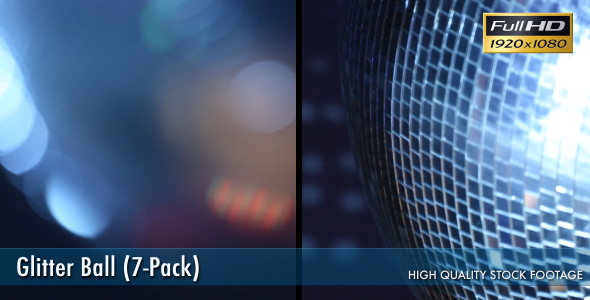VideoHive Glitter Ball Disco Ball 7-Pack 3266022