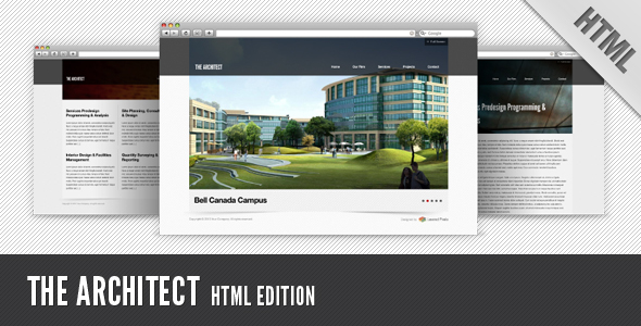 ThemeForest The Architect HTML Edition 113442