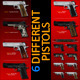 .45 acp Pistol 100% Vector Mega-Pack! - GraphicRiver Item for Sale
