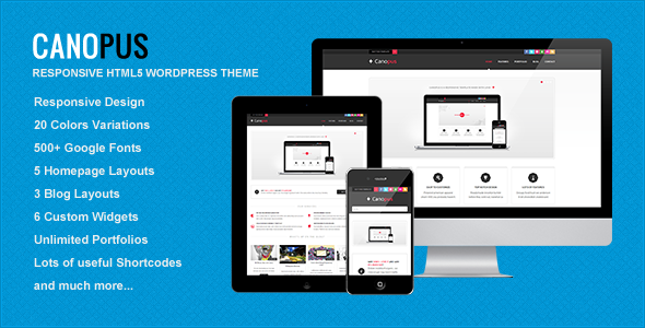 Canopus - Responsive HTML5 WordPress Template