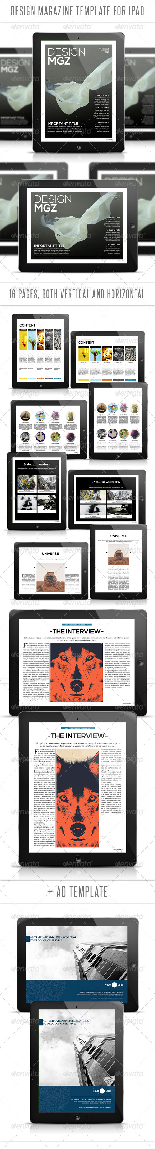 GraphicRiver Design Tablet Magazine Template 3267527