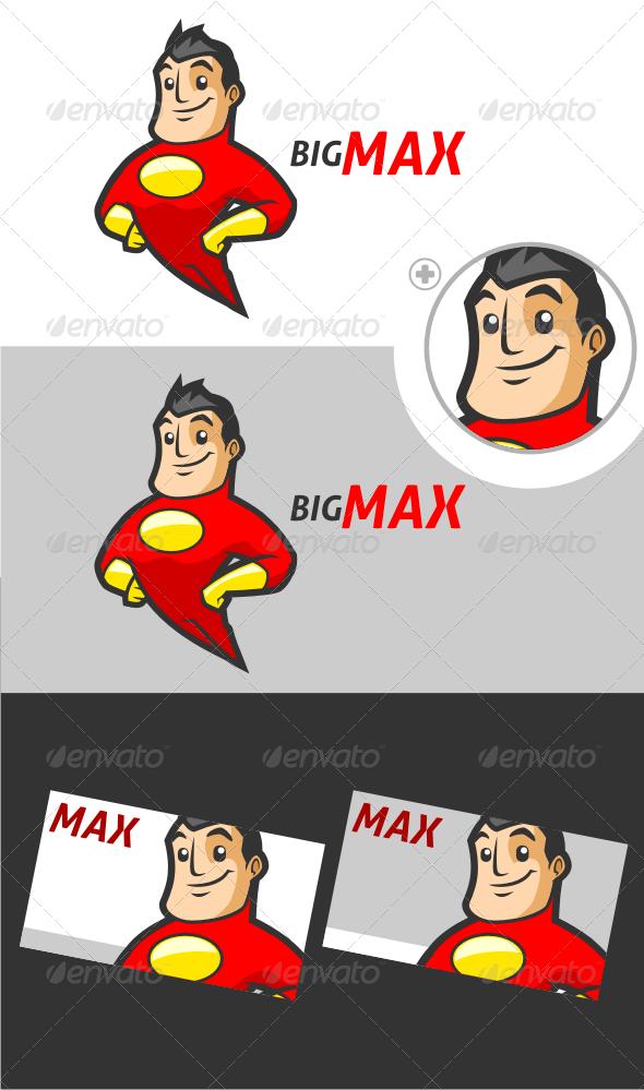 GraphicRiver Superhero V.2 Logo Template 3267694