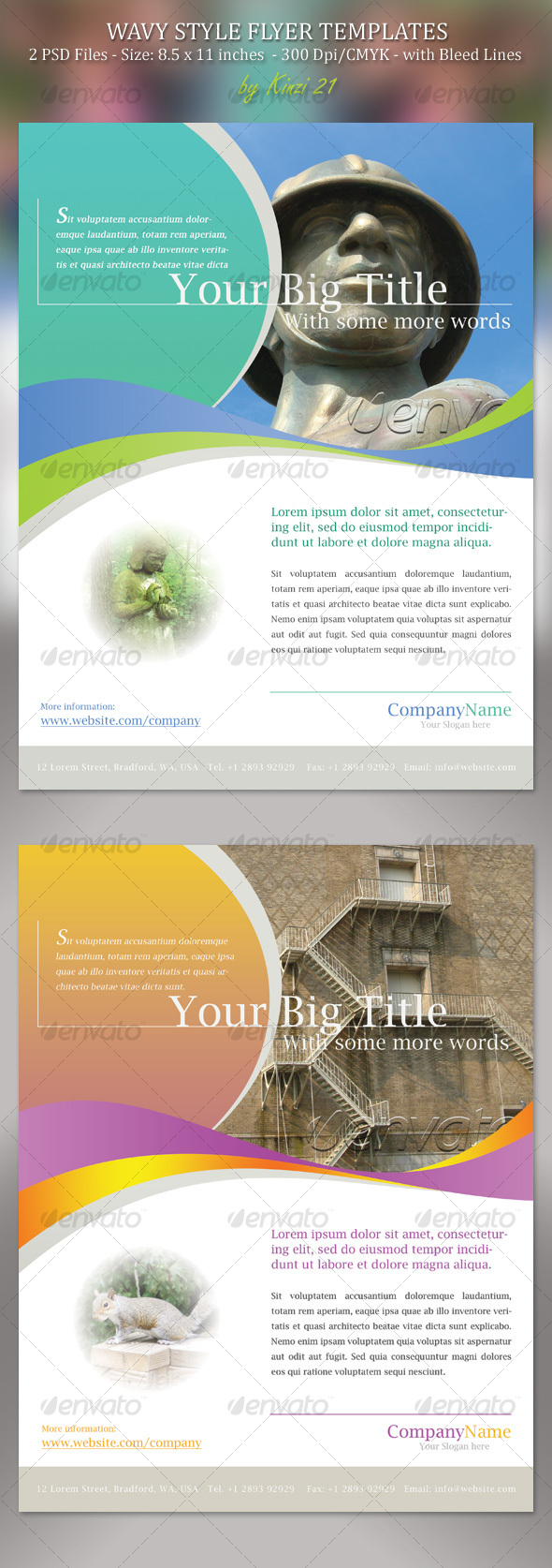GraphicRiver Wavy Style Flyer Template 114277