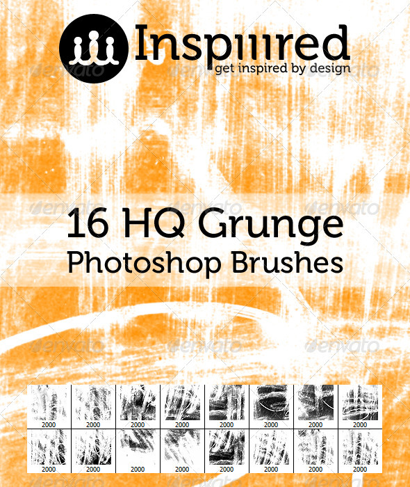 GraphicRiver 16 High Quality Grunge Photoshop Brushes 3267819