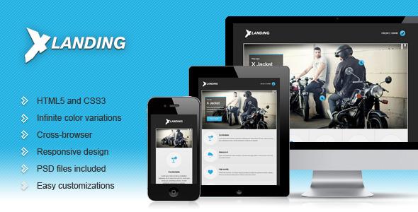 X Landing - Responsive Business Landing Page