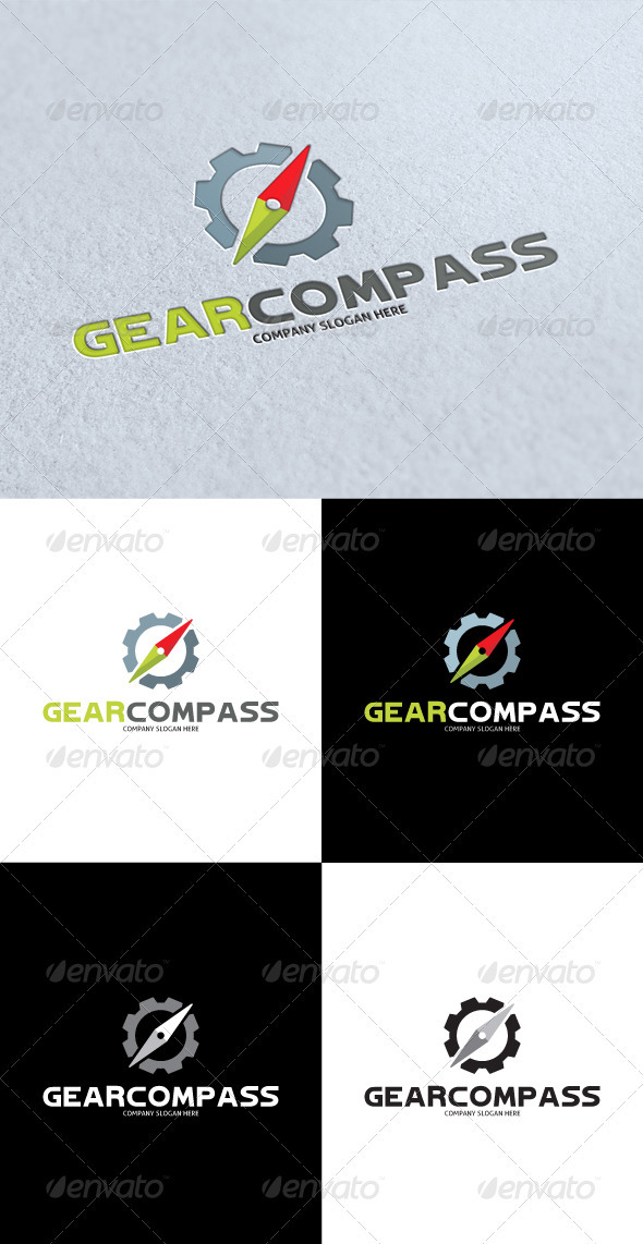 GraphicRiver Gear Compass Logo 3268324