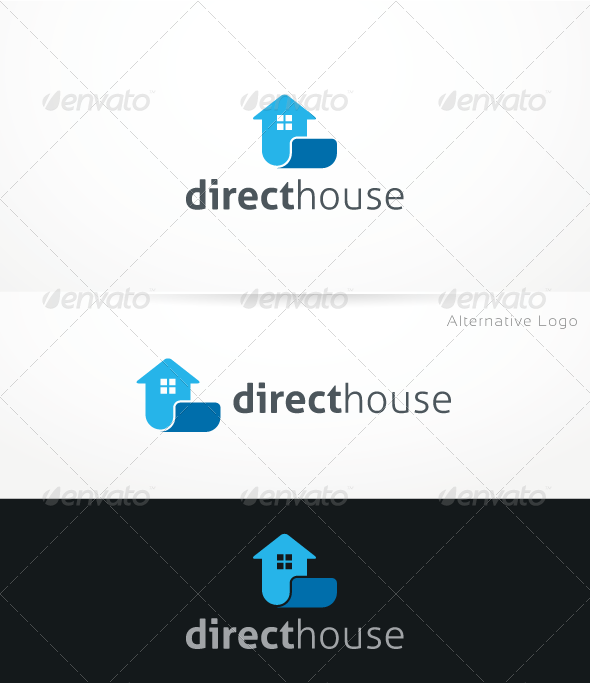 GraphicRiver DirectHouse Logo Template 3268349