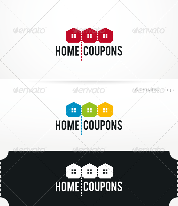 GraphicRiver HomeCoupons Logo Template 3268359