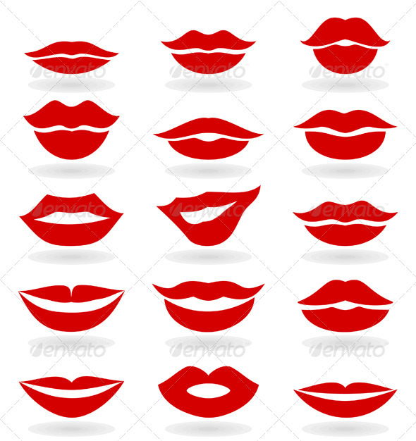Displaying (18) Gallery Images For Lips Template...