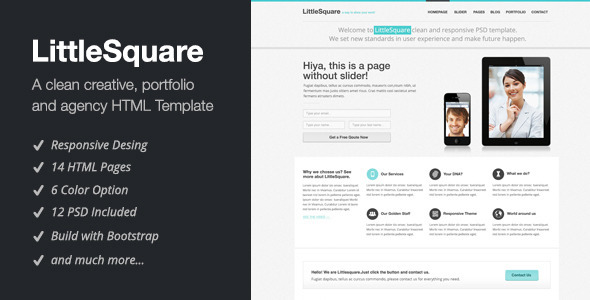 ThemeForest LittleSquare Responsive HTML5 Theme 3223999