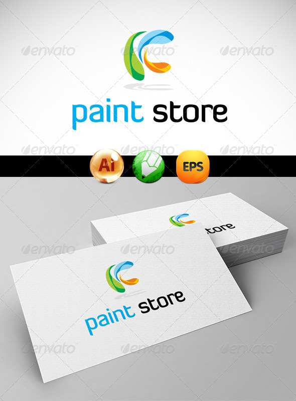 GraphicRiver Paint Store Logo Templates 3269073