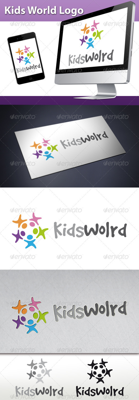 GraphicRiver Kids World Logo 3269106
