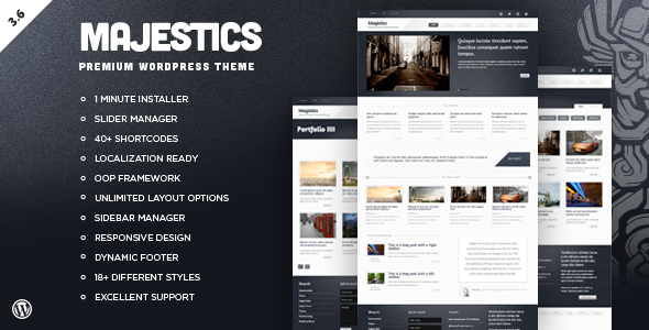ThemeForest Majestics Premium Wordpress Theme 475633