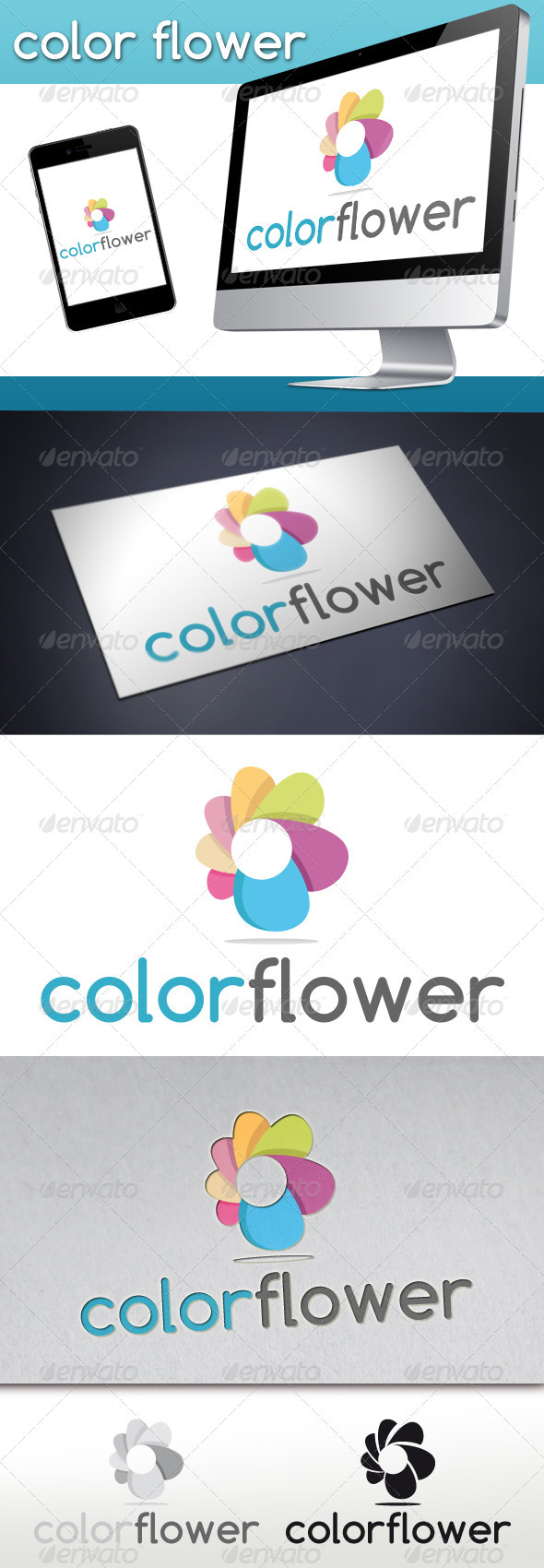 GraphicRiver Colorful Flower logo 3269293