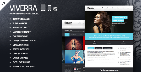 ThemeForest Viverra Responsive Business WordPress Theme 2586986