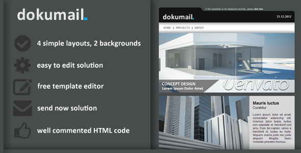 ThemeForest dokumail Email Newsletter 3262258