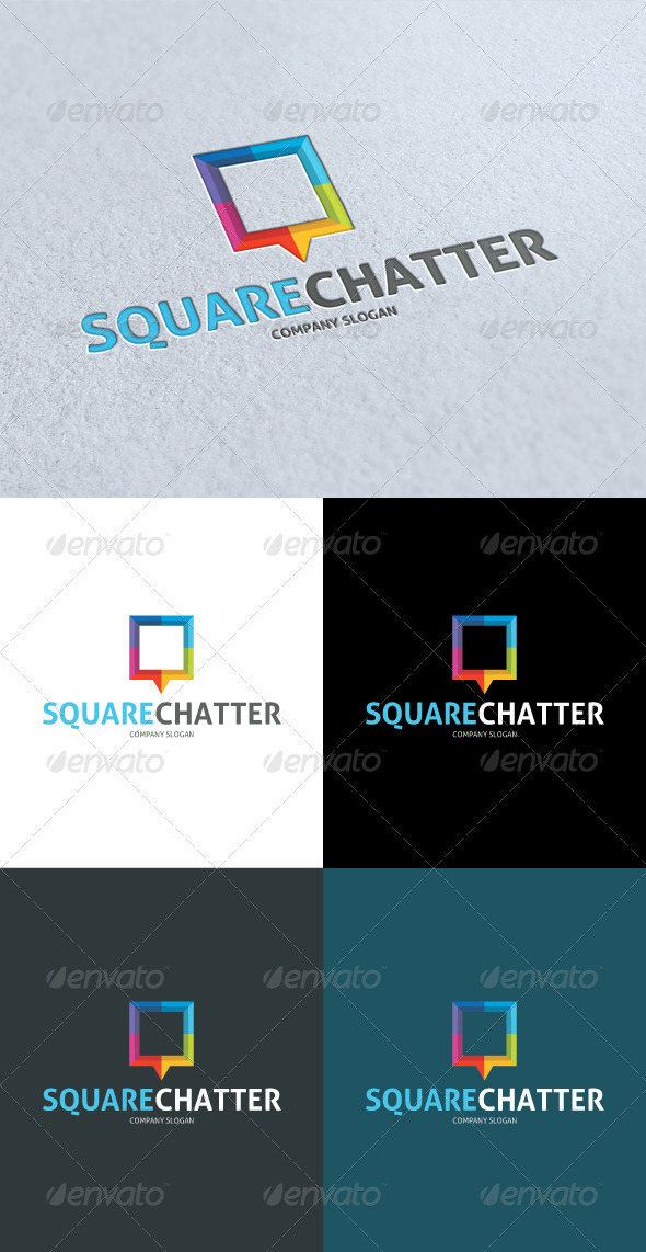 GraphicRiver Square Chat Logo 3269583