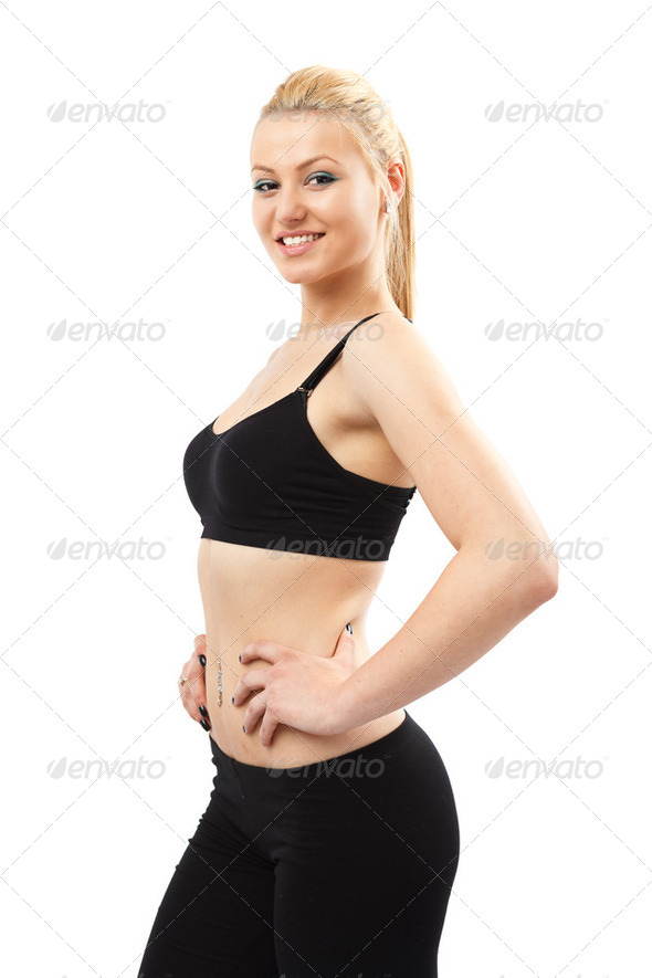 Athletic young lady - Stock Photo - Images