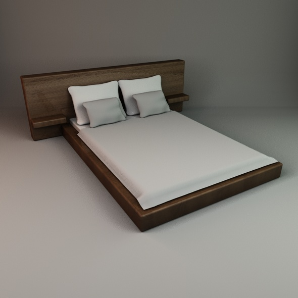 3DOcean Stylish Bed 2 77043