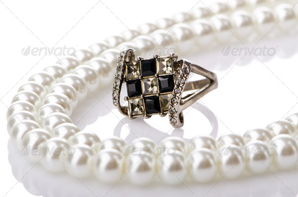 Selection of many precious rings - Stock Photo - Images