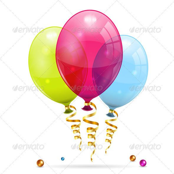GraphicRiver Birthday Balloons 3270332