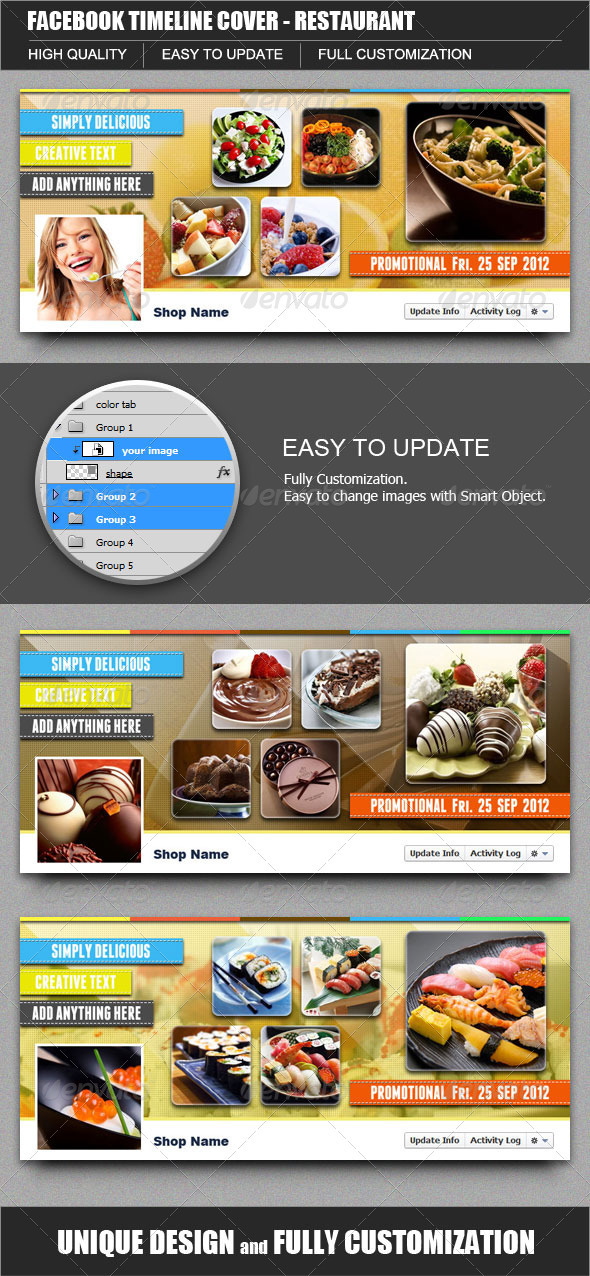 GraphicRiver FB Timeline Cover Restaurant 3270335