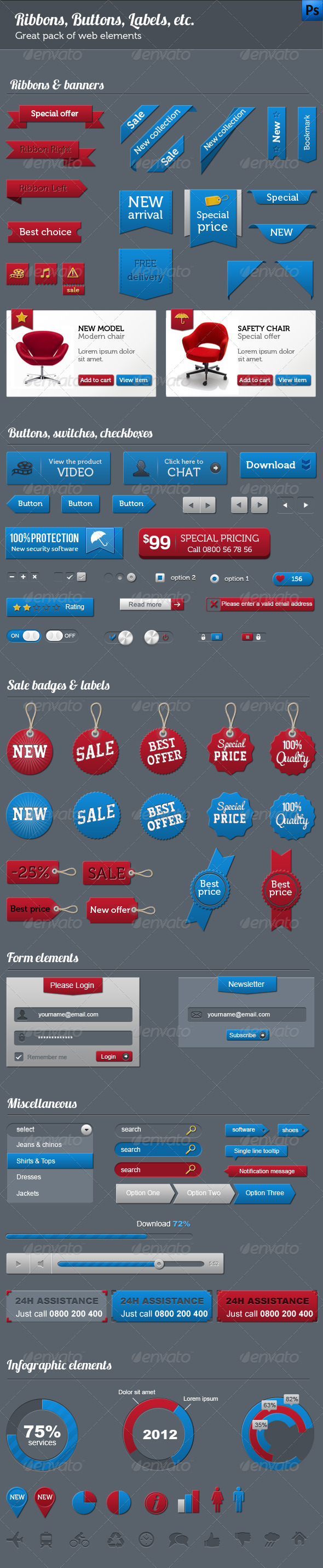 GraphicRiver Great Pack of Web Elements 3270441