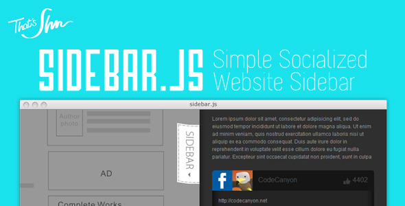 CodeCanyon Sidebar.js Simple Socialized Website Sidebar 3270687