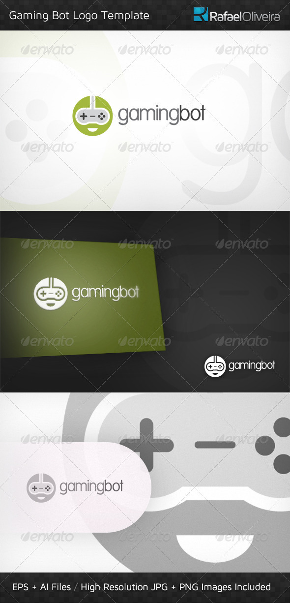 GraphicRiver Gaming Bot Logo Template 3270949