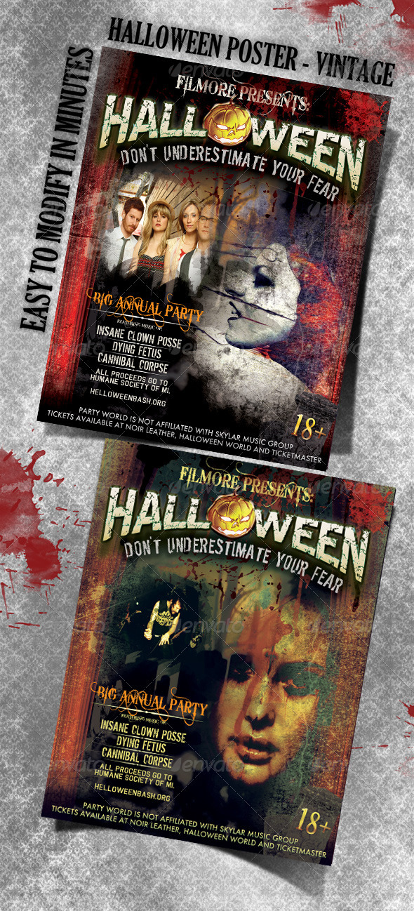Halloween poster - Clubs & Parties Events