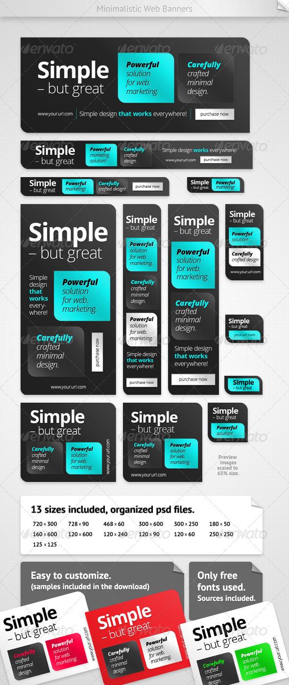 GraphicRiver Minimalistic Web Banners 3271151