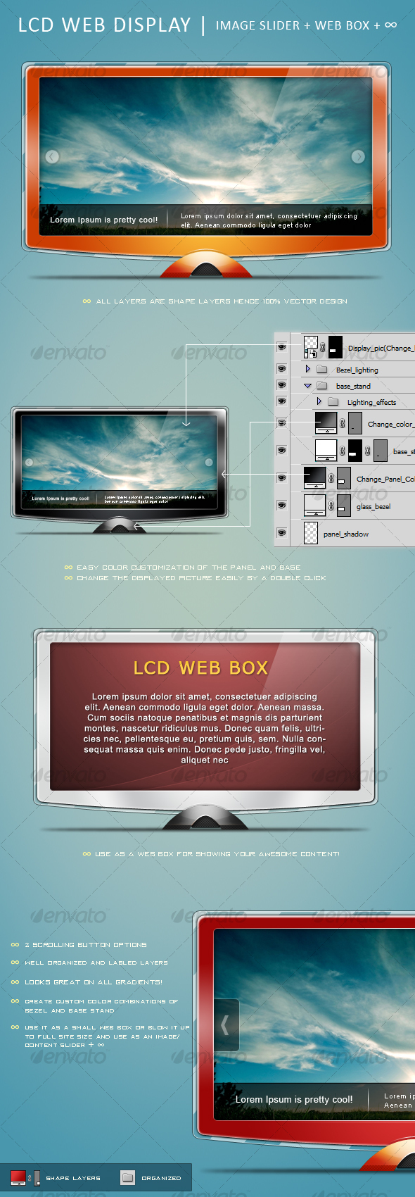 LCD Web Display - Miscellaneous Web Elements
